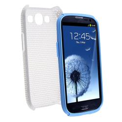 INSTEN Light Blue/ White Hybrid Phone Case Cover for Samsung Galaxy S III/ S3
