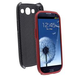Red/ Black Hybrid Case for Samsung Galaxy S III/ S3 - Thumbnail 2