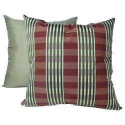 Sigourney Stripe Cranberry Decorative Pillows (Set of 2)