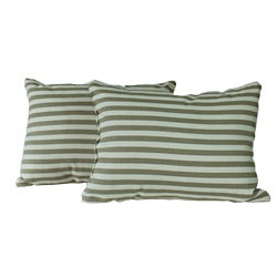 Natural Stripe Throw Pillows (Set of 2)