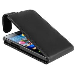 Black Leather Case for Samsung Galaxy S II/ S2 GT-i9100 - Thumbnail 1