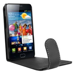 Black Leather Case for Samsung Galaxy S II/ S2 GT-i9100 - Thumbnail 2