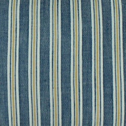 Royal Stripe Chambray Throw Pillows (Set of 2) - Thumbnail 1