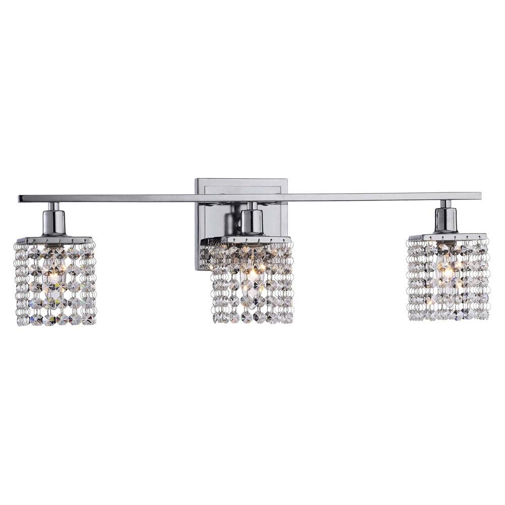 Otis Designs 3 Light Chrome Crystal Wall Sconce