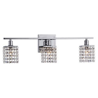 Otis Designs 3-Light Chrome/ Crystal Wall Sconce