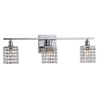 Silver Orchid Tracy 3-light Chrome/ Crystal Wall Sconce