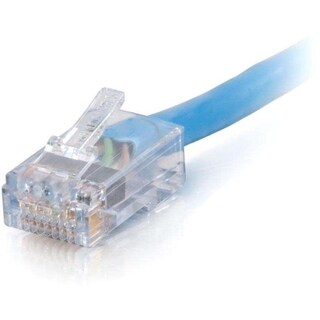 25ft Cat6 Non-Booted Network Patch Cable (Plenum-Rated) - Blue