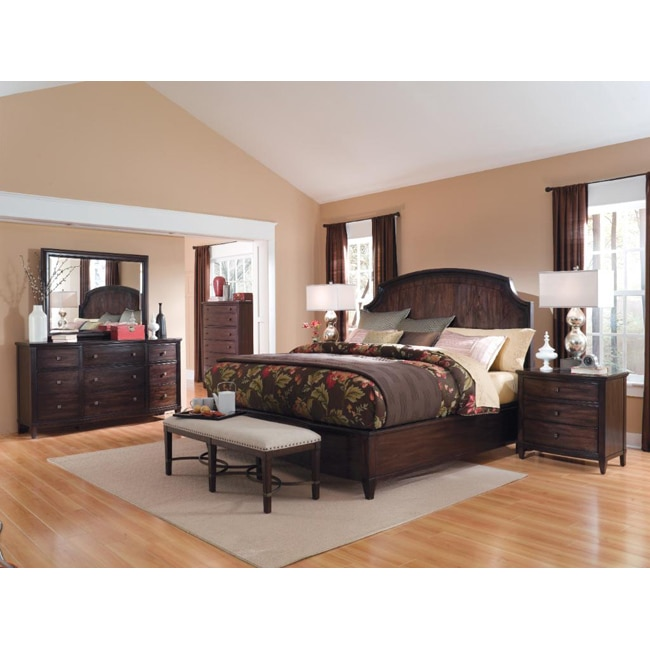 A.R.T. Furniture Intrigue Panel Bed 4-Piece King Bedroom Set