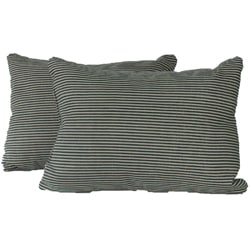 Ticking Black Throw Pillows (Set of 2)