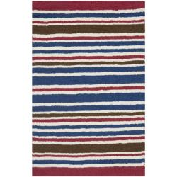 Safavieh Handmade Children's Stripes New Zealand Wool Rug (2' x 3')