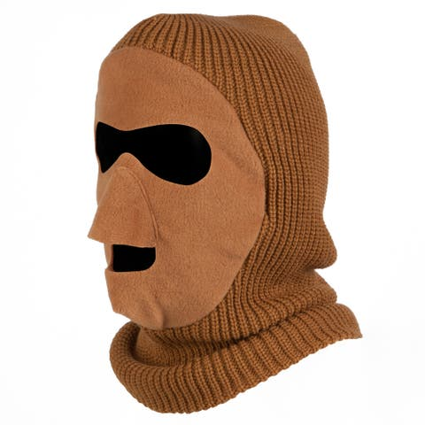 QuietWear Brown Knit-and-Fleece Patented Mask