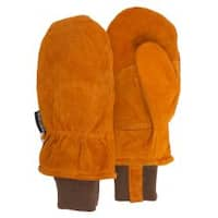 QuietWear Rust Split-leather Hunting Mitten with Thinsulate Lining