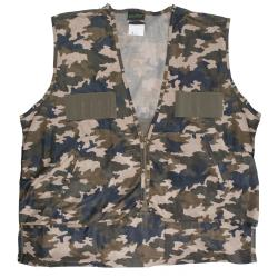 QuietWear Camoflauge Polyester Hunting Vest with Nylon Game Bag (5 options available)