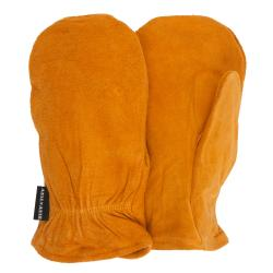 QuietWear Rust Split-leather/Polyester/Rayon Thinsulate Mittens