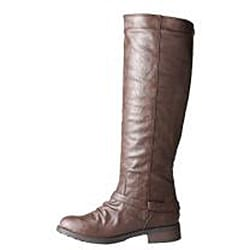 Refresh by Beston Women's 'Reba' Brown Riding Boots - Thumbnail 1