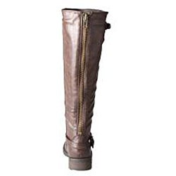 Refresh by Beston Women's 'Reba' Brown Riding Boots - Thumbnail 2