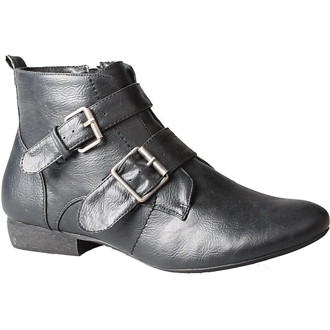 Refresh by Beston Women's 'Kylie' Black Ankle Booties - Thumbnail 0