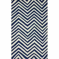 nuLOOM Handmade Chevron Indoor/ Outdoor Blue Rug (5' x 8')