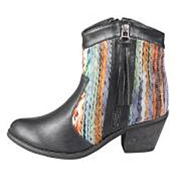 Refresh by Beston Women's 'Makay-02' Black/ Multi Boots