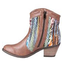 Refresh by Beston Women's 'Makay-02' Brown/ Multi Boots - Thumbnail 1