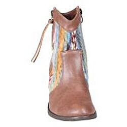 Refresh by Beston Women's 'Makay-02' Brown/ Multi Boots - Thumbnail 2