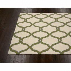 nuLOOM Handmade Moroccan Trellis Natural Wool Rug (7'6 x 9'6) - Thumbnail 1