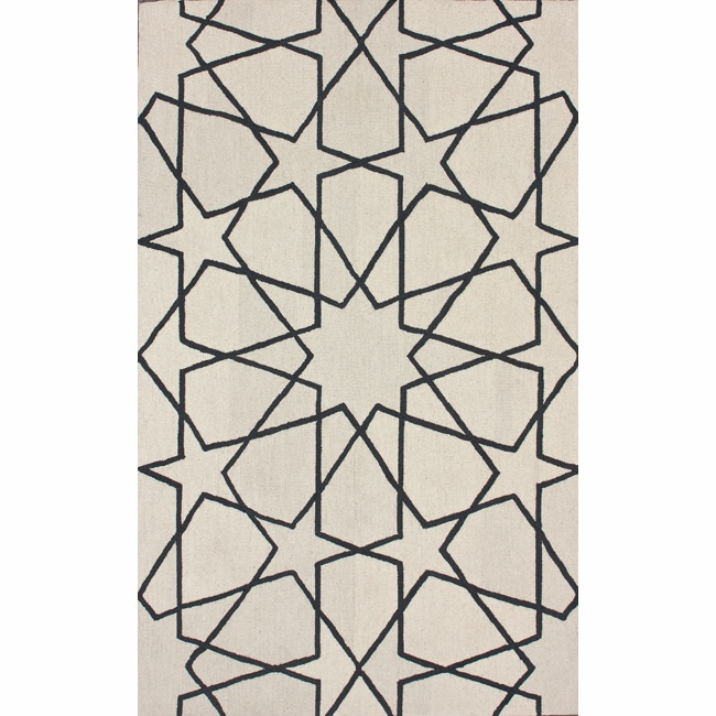 nuLOOM Handmade Marrakesh Trellis Natural Wool Rug (7'6 x 9'6)