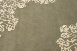nuLOOM Handmade Floral Faux Silk/ Wool Rug (7'6 x 9'6) - Thumbnail 2
