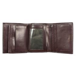 Yacht Men's Brown Leather Tri-fold Wallet - Thumbnail 2