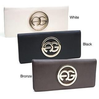 Anais Gvani Women's Italian Leather Logo Clutch Wallet (3 options available)