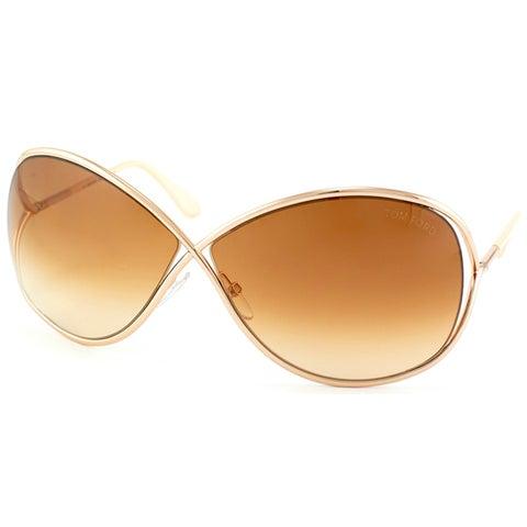 Tom Ford Women's TF130 TF0130 Miranda Gold Metal Sunglasses