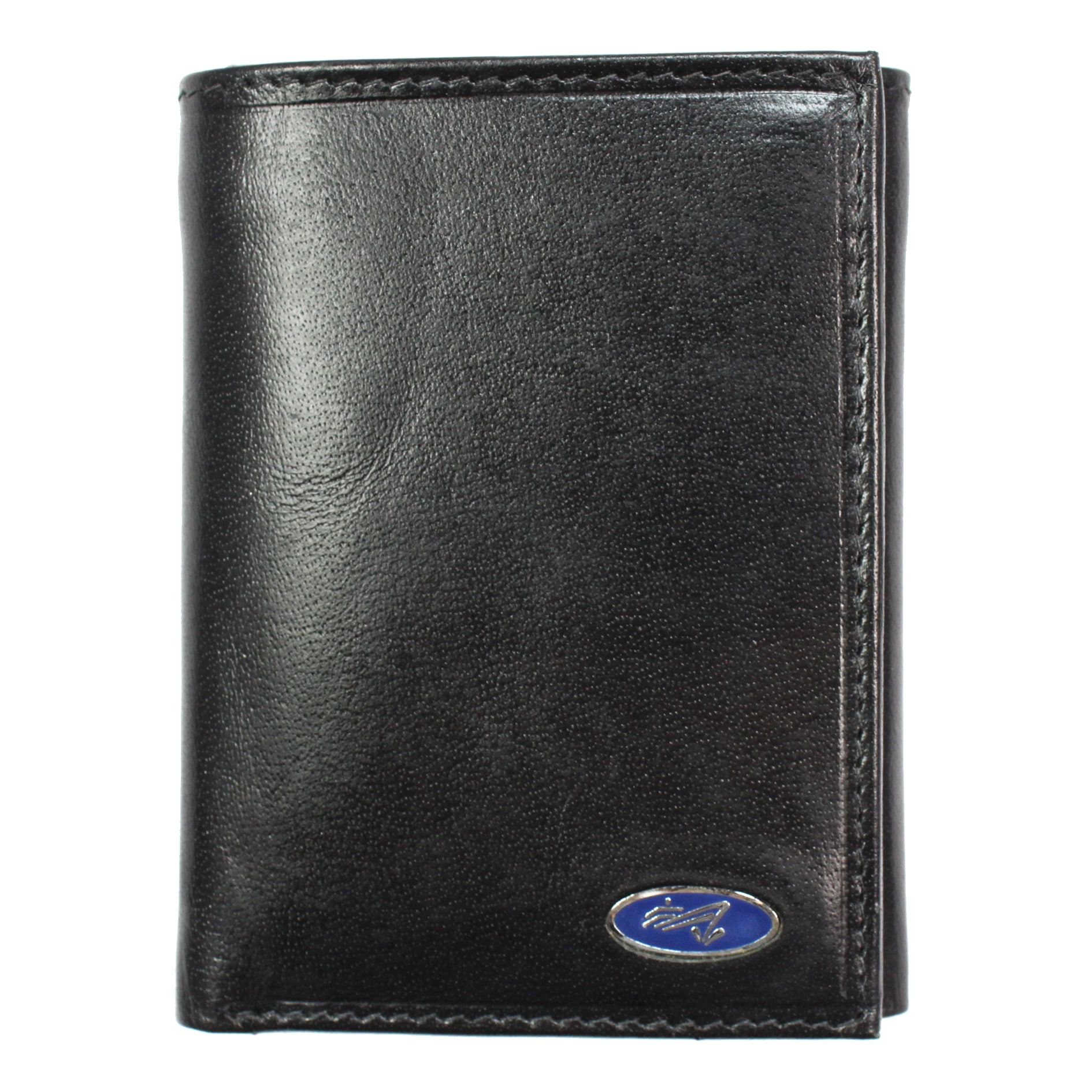 Yacht Men's Black Leather Tri-fold Wallet