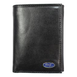 Yacht Men's Black Leather Tri-fold Wallet