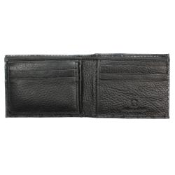 Thumbnail 2, Men's Black Python-embossed Leather Bi-fold Wallet. Changes active main hero.