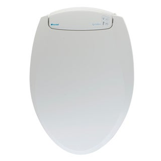 LumaWarm Round White Heated Nightlight Toilet Seat