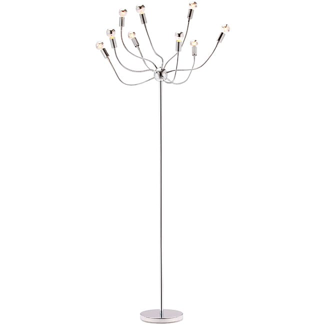 Stellar Chrome Finish Floor Lamp