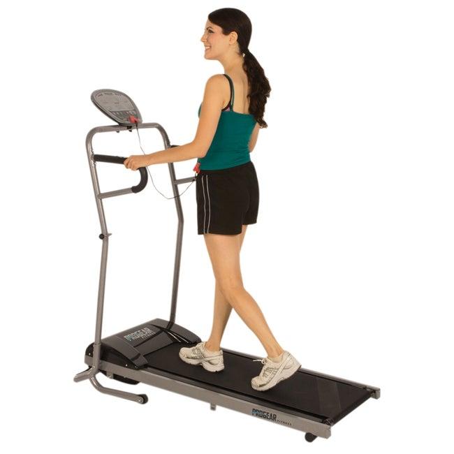 ProGear 350 Space Power Walking Electric Treadmill with Heart Pulse Sensors