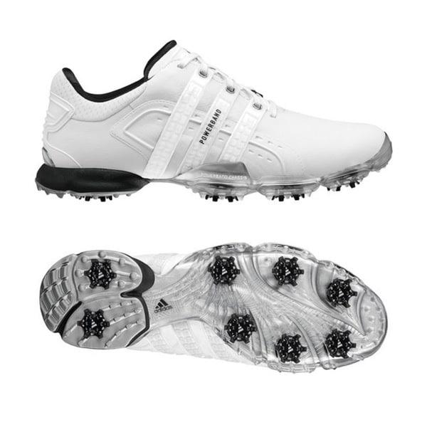 Adidas Men's Powerband 4.0 White/ White/ Black Golf Shoes