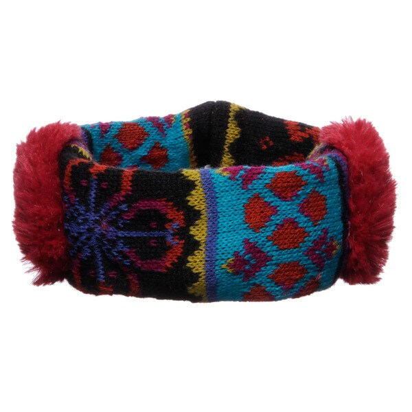 Muk Luks Girl's Flower Fairisle Headband Earmuffs