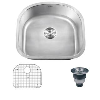 Ruvati 16-gauge Stainless Steel 23-inch Single Bowl Undermount Kitchen Sink|https://ak1.ostkcdn.com/images/products/7029836/P14534039.jpg?impolicy=medium