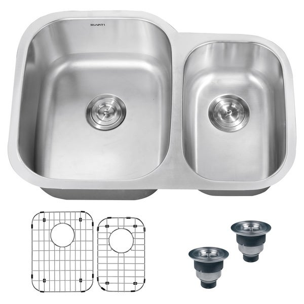 16 Gauge Undermount Kitchen Sink : ... 16-gauge Stainless Steel 30-inch Double Bowl Undermount Kitchen Sink