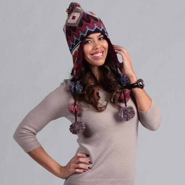 Muk Luks Women's Boho Pommy Hat