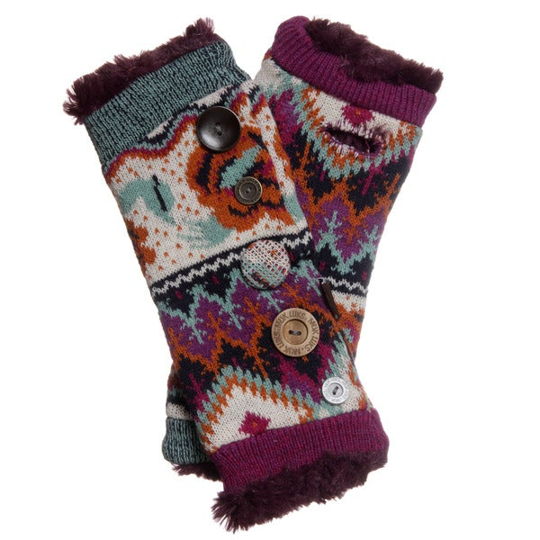 Muk Luks Women's Boho Button Accent Armwarmers