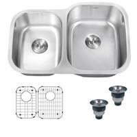 Ruvati 32-inch Undermount 40/60 Double Bowl 16 Gauge Stainless Steel Kitchen Sink - RVM4315