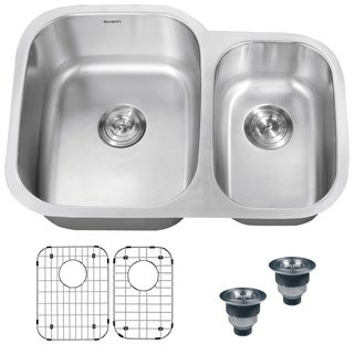 Ruvati 16 Gauge Stainless Steel Double Bowl 32 Inch Undermount Kitchen Sink