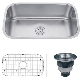 Ruvati 16-gauge Steel Single Bowl 32-inch Undermount Kitchen Sink