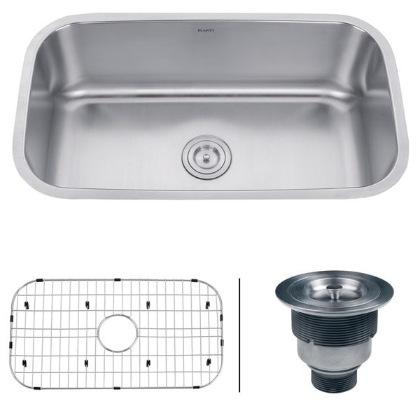 Ruvati 32-inch Undermount 16 Gauge Stainless Steel Kitchen Sink Single Bowl - RVM4200