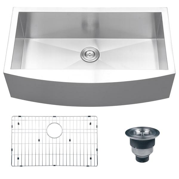 Ruvati 16-gauge Steel Single Bowl 36-inch Apron Front Kitchen Sink