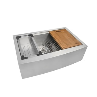 Ruvati 16-gauge 33-inch Single Bowl Apron Front Kitchen Sink