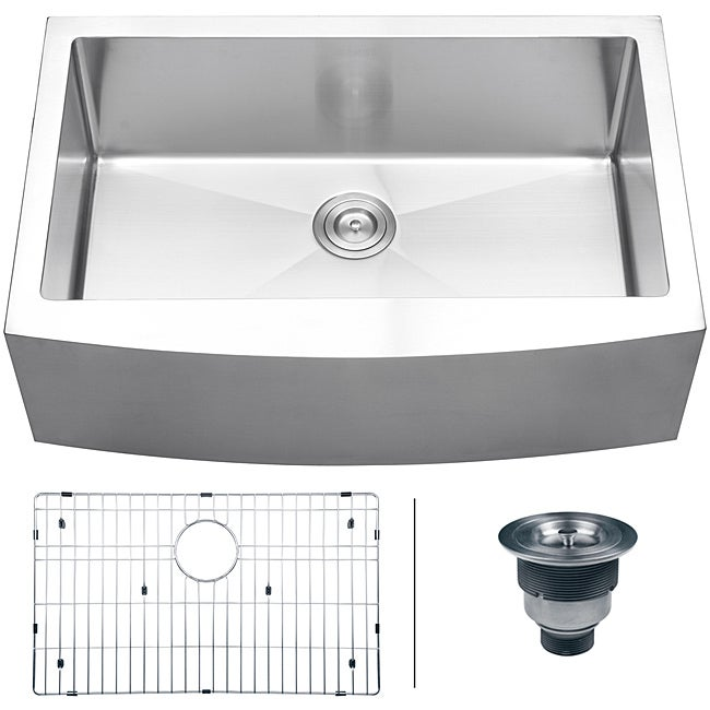33 Inch Apron Front Sink : ... 16-gauge Stainless Steel 33-inch Single Bowl Apron Front Kitchen Sink